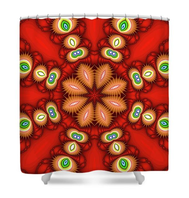 watcher's eyes shower curtain