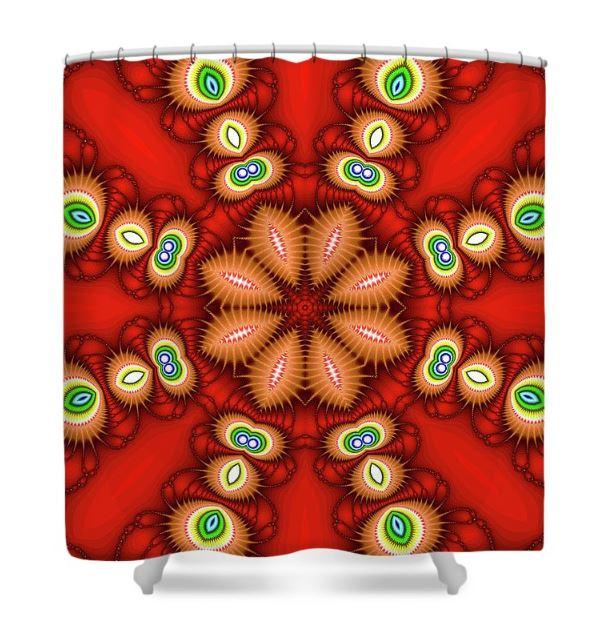 watcher's eyes shower curtain