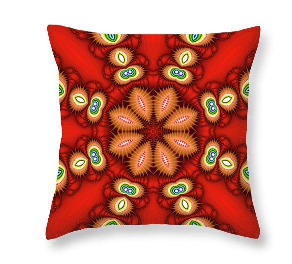 watcher's eyes throw pillow